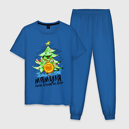 Мужская пижама С Новым Годом / Синий – фото 1