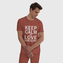 Пижама хлопковая мужская K C a Love Barcelona цвета кирпичный — фото 2