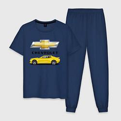 Пижама хлопковая мужская CAMARO цвета тёмно-синий — фото 1