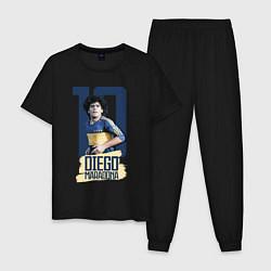 Пижама хлопковая мужская 10 number цвета черный — фото 1