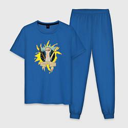 Пижама хлопковая мужская Стук Кино цвета синий — фото 1