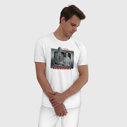 Пижама хлопковая мужская ВандаВижен цвета белый — фото 2