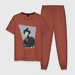 Пижама хлопковая мужская Dont Starve цвета кирпичный — фото 1