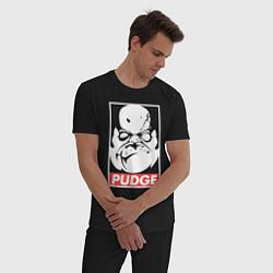 Пижама хлопковая мужская Pudge Dota Пудж цвета черный — фото 2