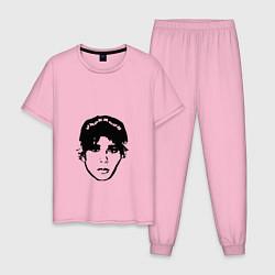 Пижама хлопковая мужская Slawa Marlow цвета светло-розовый — фото 1