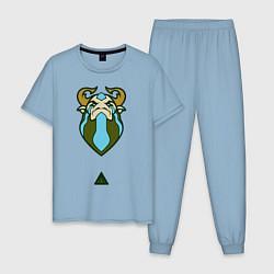 Пижама хлопковая мужская Фурион Dota 2 цвета мягкое небо — фото 1