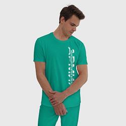 Пижама хлопковая мужская ЖДВ, железнодорожные войска цвета зеленый — фото 2