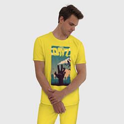 Пижама хлопковая мужская DAYZ ДЕЙЗИ Z цвета желтый — фото 2