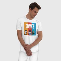 Пижама хлопковая мужская DayZ ДэйЗи цвета белый — фото 2