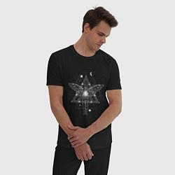 Пижама хлопковая мужская Геометрия астрал и душа цвета черный — фото 2