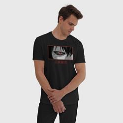 Пижама хлопковая мужская Глаз Гуля цвета черный — фото 2