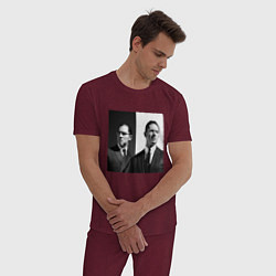 Пижама хлопковая мужская Tom hardy цвета меланж-бордовый — фото 2