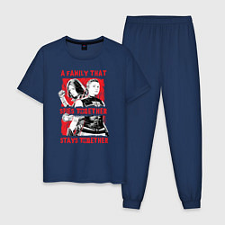 Пижама хлопковая мужская Black Widow цвета тёмно-синий — фото 1