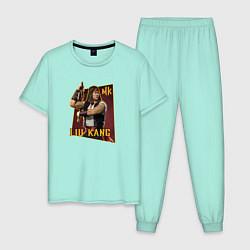 Пижама хлопковая мужская Lui Kang цвета мятный — фото 1