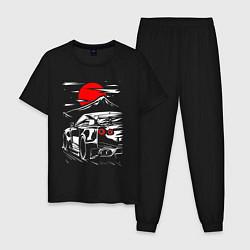 Пижама хлопковая мужская NUSSAN GT-R НИССАН GTR цвета черный — фото 1