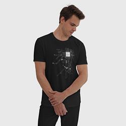 Пижама хлопковая мужская ETHEREUM ЭФИРИУМ ЭФИР цвета черный — фото 2