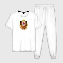 Пижама хлопковая мужская Нино800 цвета белый — фото 1
