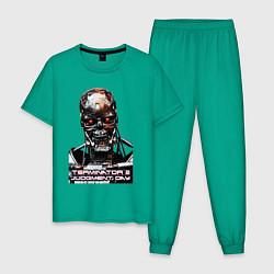 Пижама хлопковая мужская Terminator T-800 цвета зеленый — фото 1