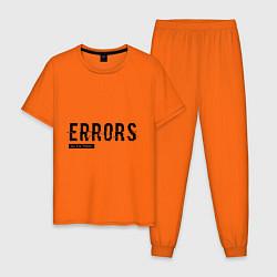 Пижама хлопковая мужская Watch Dogs: Error цвета оранжевый — фото 1