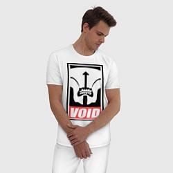 Пижама хлопковая мужская Faceless Void Poster цвета белый — фото 2