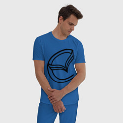 Пижама хлопковая мужская Мазда значок цвета синий — фото 2