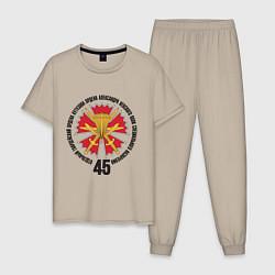 Пижама хлопковая мужская 45гв. ОПСпН ВДВ цвета миндальный — фото 1