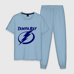 Пижама хлопковая мужская HC Tampa Bay цвета мягкое небо — фото 1