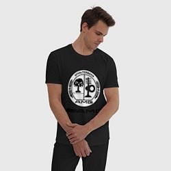 Пижама хлопковая мужская AMG цвета черный — фото 2