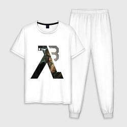 Пижама хлопковая мужская Half-Life 3: Freeman цвета белый — фото 1