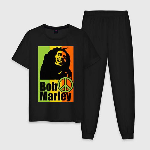 Мужская пижама Bob Marley: Jamaica / Черный – фото 1