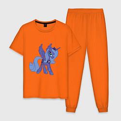 Пижама хлопковая мужская Принцесса Луна цвета оранжевый — фото 1