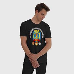 Пижама хлопковая мужская 350 гв. ПДП цвета черный — фото 2