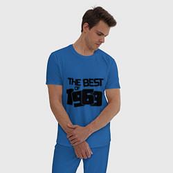 Пижама хлопковая мужская The best of 1969 цвета синий — фото 2