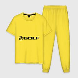 Пижама хлопковая мужская Volkswagen Golf цвета желтый — фото 1