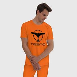 Пижама хлопковая мужская Tiesto цвета оранжевый — фото 2