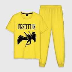 Пижама хлопковая мужская Led Zeppelin Swan цвета желтый — фото 1