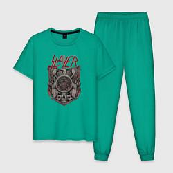 Пижама хлопковая мужская Slayer Eagle цвета зеленый — фото 1