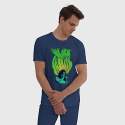 Пижама хлопковая мужская Black Sabbath: Acid цвета тёмно-синий — фото 2