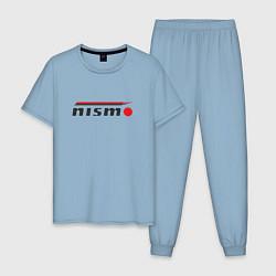 Пижама хлопковая мужская Nismo цвета мягкое небо — фото 1