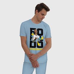 Пижама хлопковая мужская Ronaldo Funs цвета мягкое небо — фото 2