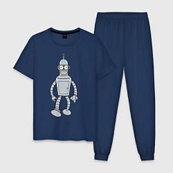 Пижама хлопковая мужская Iron Bender цвета тёмно-синий — фото 1