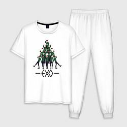 Пижама хлопковая мужская EXO Band цвета белый — фото 1