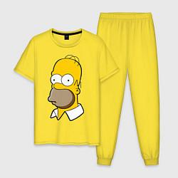 Пижама хлопковая мужская Sad Homer цвета желтый — фото 1