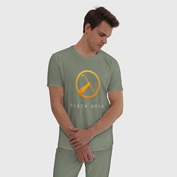 Пижама хлопковая мужская Black Mesa цвета авокадо — фото 2