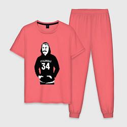 Пижама хлопковая мужская Stalingrad 34 цвета коралловый — фото 1