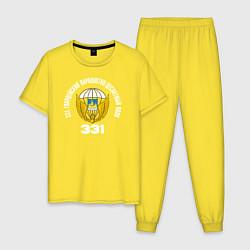 Пижама хлопковая мужская 331 ПДП ВДВ цвета желтый — фото 1