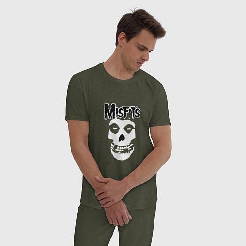 Мужская пижама Отбросы / Меланж-хаки – фото 3