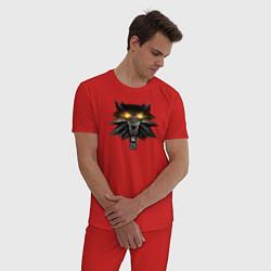 Пижама хлопковая мужская Witcher 3 Wild Hunt цвета красный — фото 2