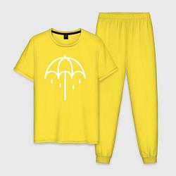 Пижама хлопковая мужская BMTH Symbol цвета желтый — фото 1