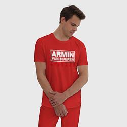 Пижама хлопковая мужская Armin van Buuren: Embrace цвета красный — фото 2